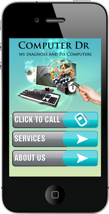 An example of a mobile optimized website