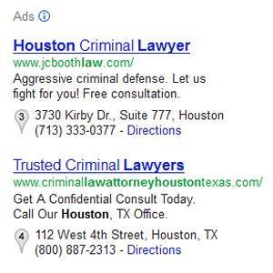 Pay-per-cick Ads Search Example